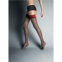 Stay-up kousen Alessandra zwart/rood