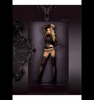Art. 304 panty zwart-silber 20/50den
